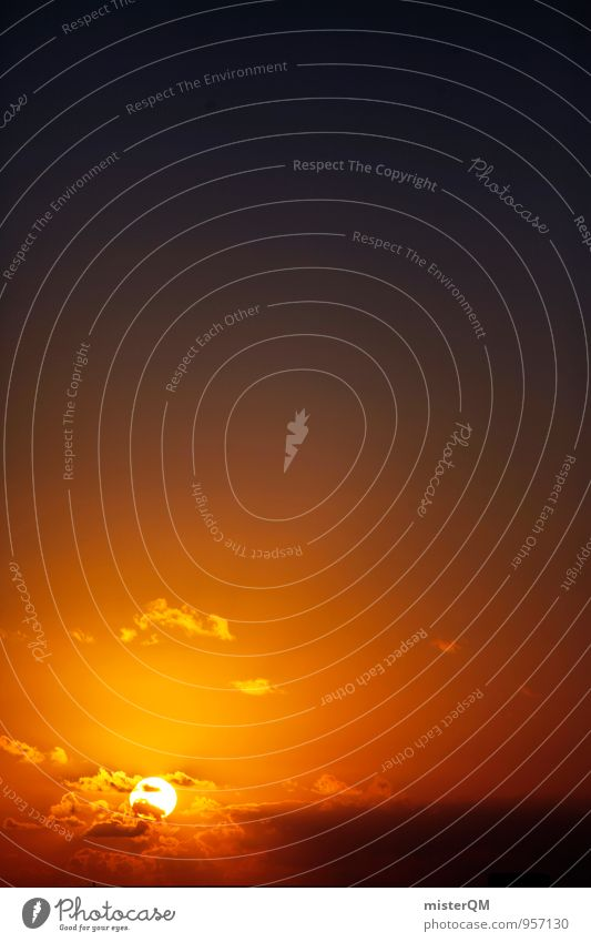 El Cotillo. Umwelt Natur Himmel nur Himmel Wolken Horizont Sonne Sonnenaufgang Sonnenuntergang Sonnenlicht Sommer ästhetisch Zufriedenheit Himmel (Jenseits)