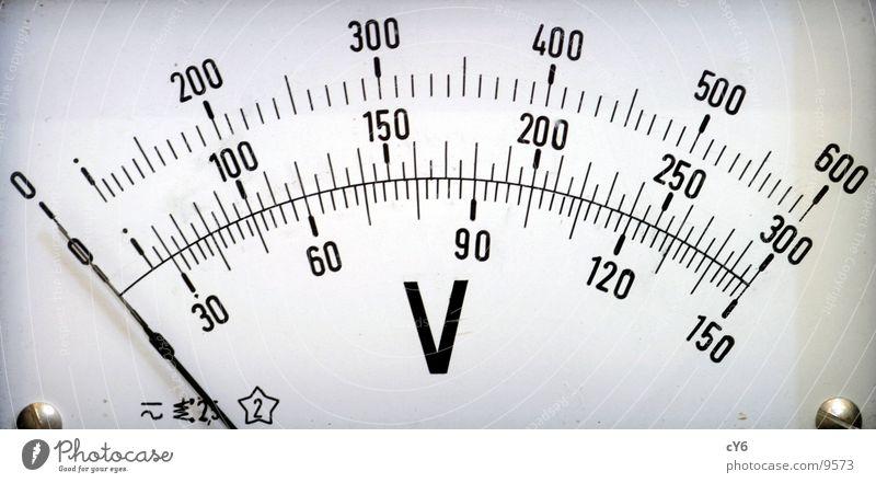 Voltmeter 2 alt Technik & Technologie Ziffern & Zahlen historisch Elektrisches Gerät