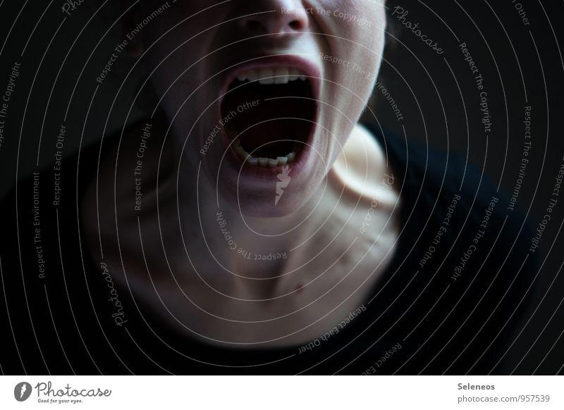emoticon Mensch Haut Gesicht Mund Lippen Zähne 1 schreien Wut Gefühle Stimmung Traurigkeit Schmerz Angst Todesangst gefährlich Stress Ärger gereizt