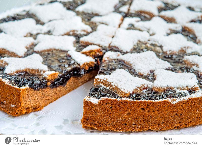 Linzer Torte Kuchen Süßwaren Dekoration & Verzierung Weihnachten & Advent genießen lecker Tradition Backwaren traditionell Bäckerei Weihnachstbäckerei