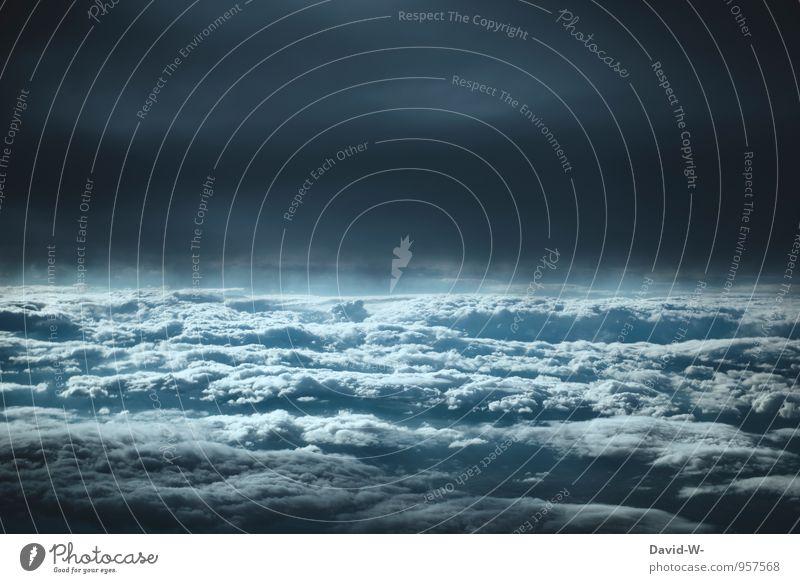 WendeDeinGesichtDerSonneZu,UndLasseDieSchattenHinterDir Künstler Urelemente Luft Himmel nur Himmel Wolken Gewitterwolken Nachthimmel Klimawandel Wetter