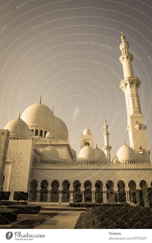Abu Dhabi V Hauptstadt Bauwerk Gebäude Architektur Sehenswürdigkeit Wahrzeichen Denkmal historisch Religion & Glaube Allah Islam Moschee Minarett Turm