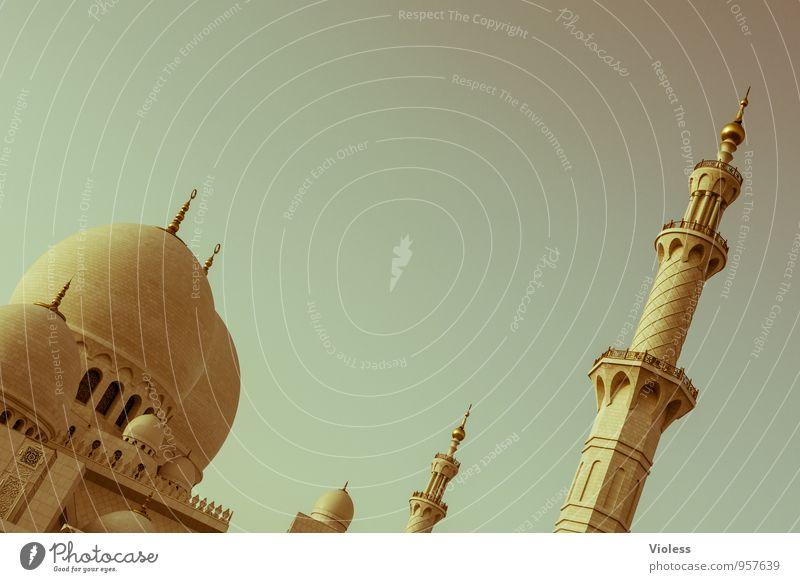 Scheich-Zayid-Moschee Hauptstadt Bauwerk Gebäude Architektur Sehenswürdigkeit Wahrzeichen ästhetisch außergewöhnlich Bekanntheit Allah