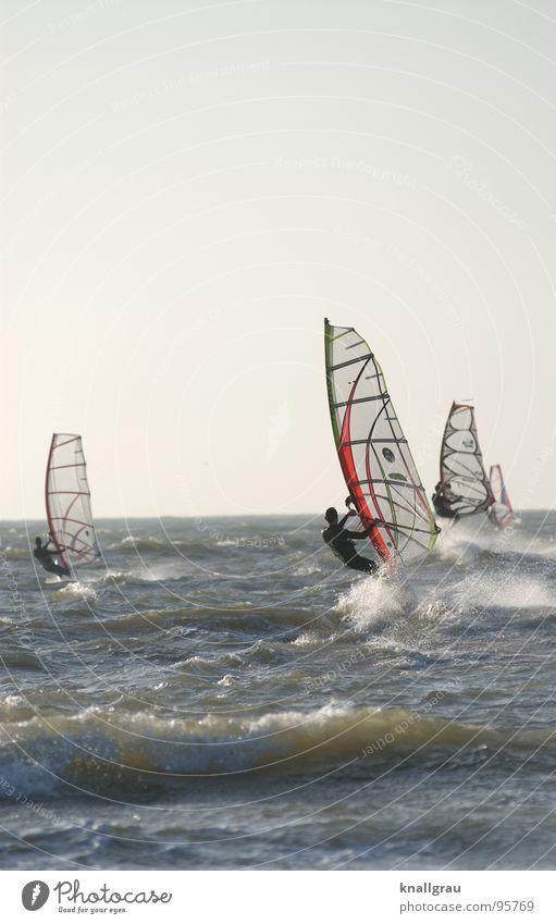 Hart im Wind Wasser Meer Freude Wolken Sport Spielen Bewegung springen Horizont Wellen Wind Freizeit & Hobby Erfolg Geschwindigkeit Wunsch Nordsee