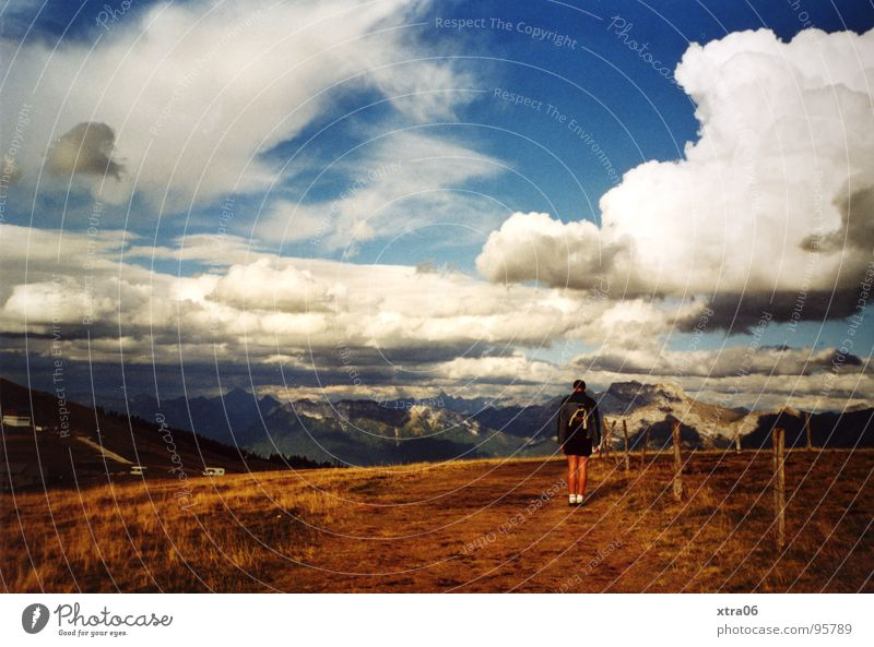 Annecy 6 - Weite Mensch Mann Himmel Wolken Einsamkeit Berge u. Gebirge klein Aussicht Frankreich