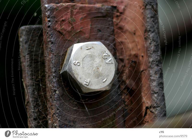 Schraube Dinge Rost Metall Detailaufnahme