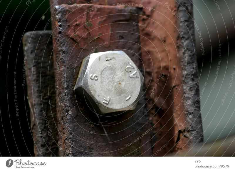 Schraube Metall Dinge Rost