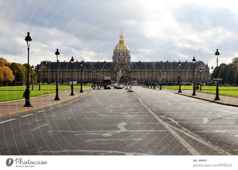 Hôtel des Invalides Ferien & Urlaub & Reisen Tourismus Sightseeing Architektur Paris Hauptstadt Stadtzentrum Kirche Dom Palast Bauwerk Gebäude Fassade