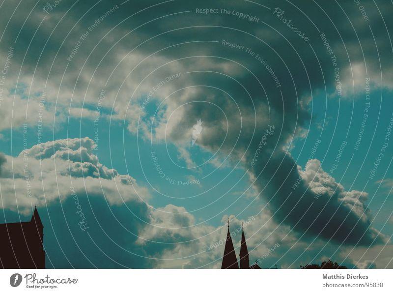 HURRICANE Orkan Sturm Wolken grün schwarz Donnern fantastisch abweisend Sommer Himmel Gewitter Wind Strukturen & Formen blau Religion & Glaube Wetter Regen