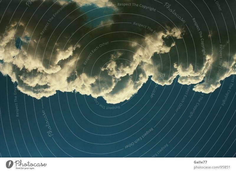 Zuckerwatte Wolken hängen Wetter schön Durchblick Kumulus Watte Himmel clouds heaven offen Loch weis Strukturen & Formen
