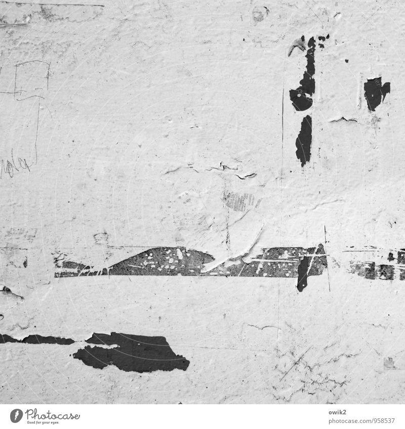 Winterlied klein Linie trist Textfreiraum einfach dünn nah Fleck Riss minimalistisch wenige Kunstwerk