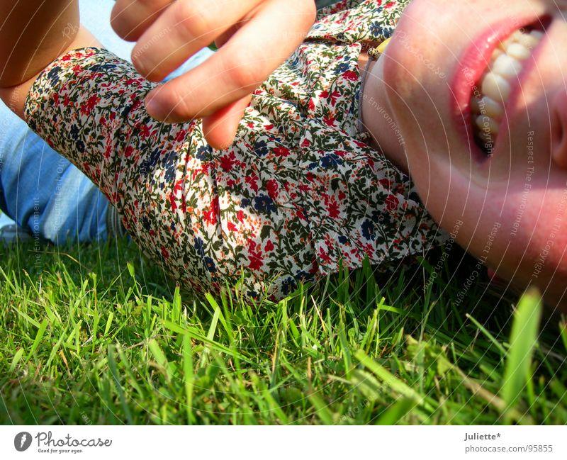 ich bins! Frau Freude Farbe lachen Zähne Lust Blumenwiese