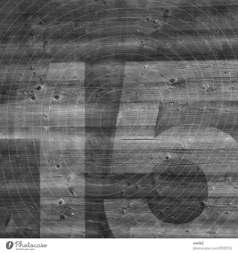 Nicht mehr und nicht weniger Mauer Wand Fassade Holz Ziffern & Zahlen 15 einfach gigantisch groß Kraft Genauigkeit Schwarzweißfoto Außenaufnahme Nahaufnahme