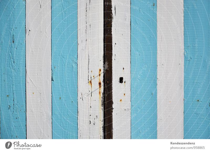 blau-weiß gestreift Sommer Strand Holz hell Arbeit & Erwerbstätigkeit Tür Baustelle Hütte Sommerurlaub Tor Anstreicher Zirkus heimwerken