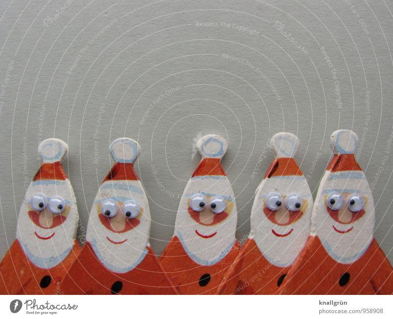 Morbus Basedow Mensch Mann alt Weihnachten & Advent weiß rot Freude Erwachsene Gefühle Senior lustig Menschengruppe Stimmung Zusammensein maskulin Fröhlichkeit