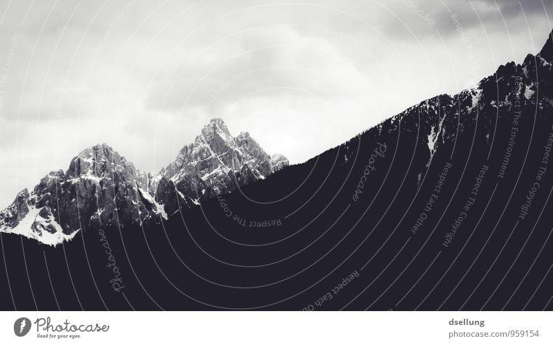 Ausflug ins Graue II Umwelt Natur Landschaft Himmel Wolken Frühling Sommer Wetter Schönes Wetter Felsen Alpen Berge u. Gebirge Gipfel Schneebedeckte Gipfel