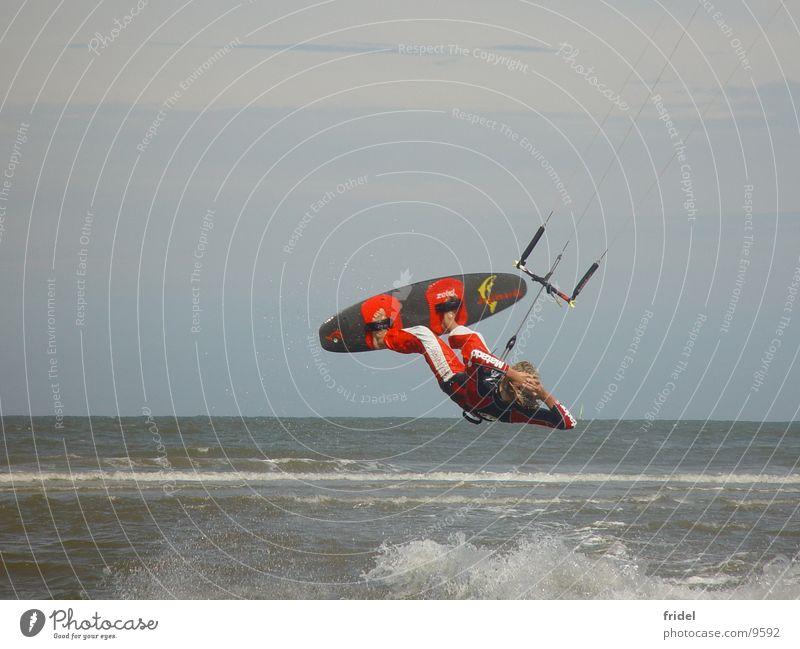 Kitesurfing Sport fliegen Drache Kiting Surfen
