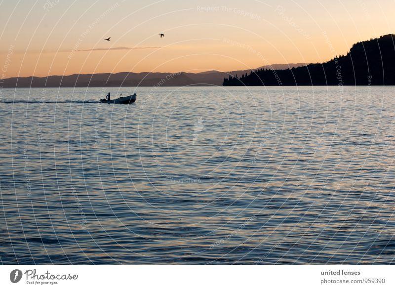 DR# Italian Trip Kunst ästhetisch Zufriedenheit See Gardasee Italien Romantik verträumt Idylle friedlich Wasserfahrzeug Bootsfahrt Süden