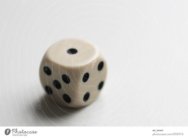 Loser weiß schwarz Auge Leben Spielen 1 Glück liegen Freizeit & Hobby authentisch Erfolg leer Armut Ziffern & Zahlen Zeichen Kunststoff