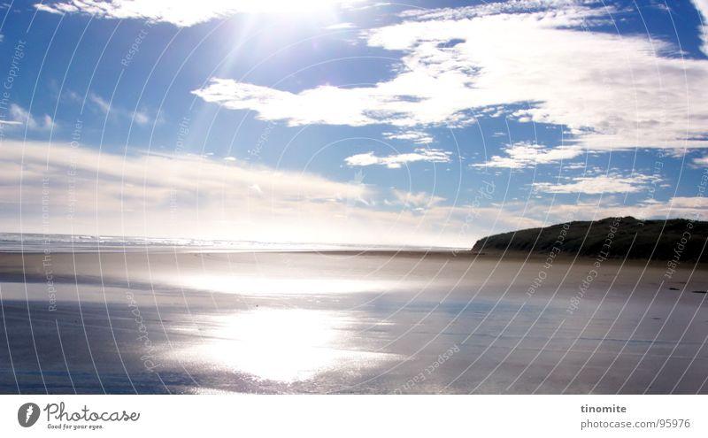 Weg in die Ewigkeit Strand Meer Platz Ferien & Urlaub & Reisen Horizont Licht Wolken Zeit schön Neuseeland Küste Australien Sonne Berge u. Gebirge Himmel blau