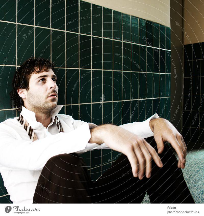 EIERFARBEND Mensch weiß grün Auge Traurigkeit Business Luft Arbeit & Erwerbstätigkeit Design gefährlich kaputt bedrohlich T-Shirt Trauer Ende Krankheit
