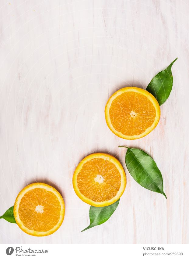 Schneiden Orange, Früchte mit Blättern Natur grün Sommer weiß Gesunde Ernährung Blatt gelb Foodfotografie Autofenster Hintergrundbild Stil Lebensmittel Design
