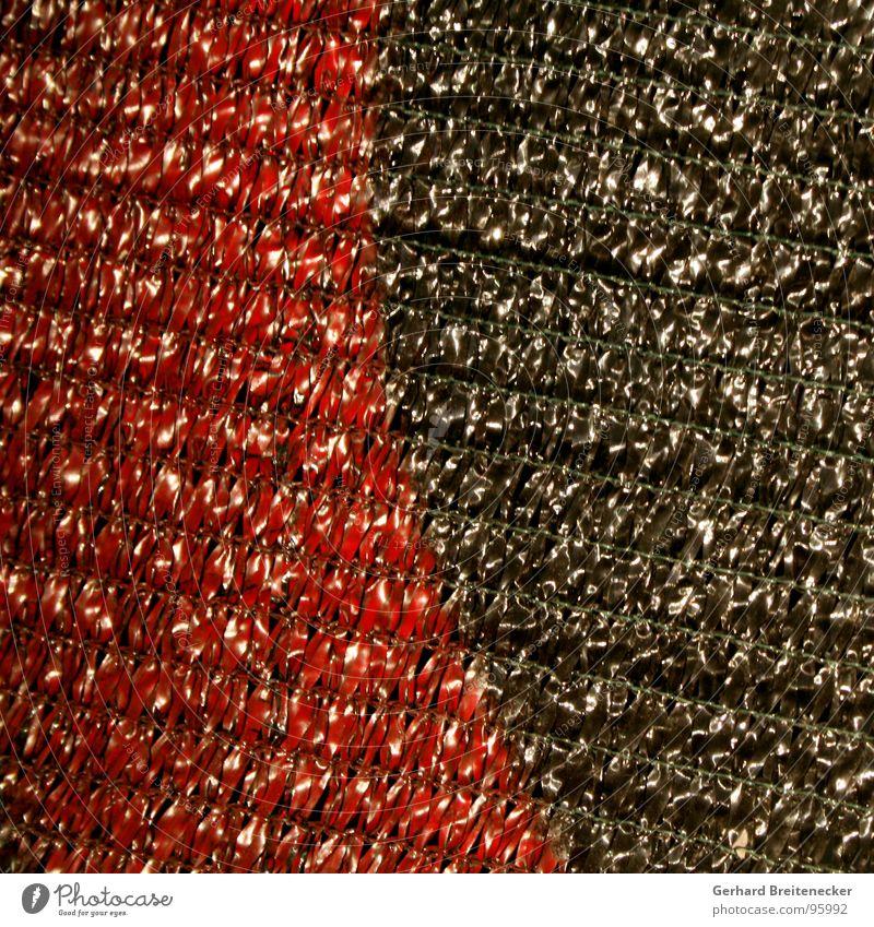 Verwoben rot schwarz färben Schlaufe Stoff glänzend Moral Netz