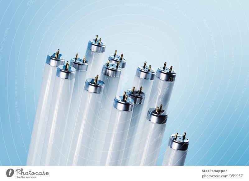 Leuchtstoffröhren fluoreszierend Licht Beleuchtung Tube Schläuche Lampe T8 T-8 Stecknadel Stifte Teile u. Stücke elektrisch Menschenleer Objektfotografie