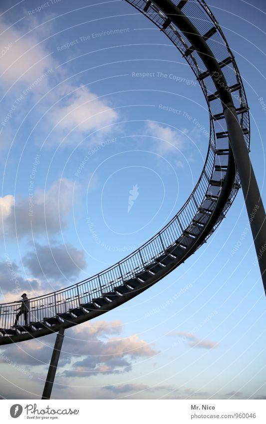 Rundreise Freizeit & Hobby Ferien & Urlaub & Reisen Ausflug Freiheit 1 Mensch Umwelt Himmel Wolken Wetter gehen Kurve Schwung schwungvoll Stahl Stahlträger
