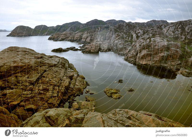 Norwegen Natur Ferien & Urlaub & Reisen Wasser Meer Landschaft Umwelt Küste natürlich Felsen wild Klima Norwegen Fjord