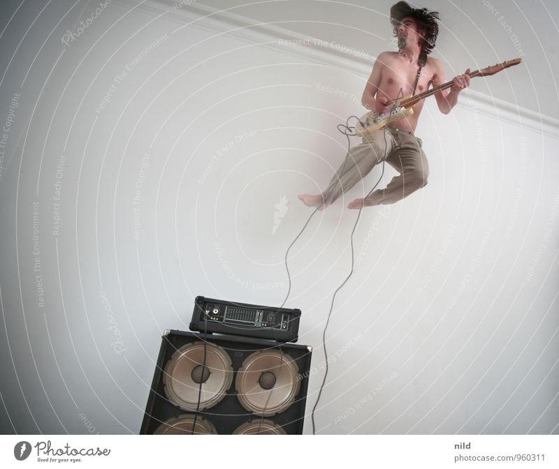 Rock da House 2014 Lifestyle Stil Freizeit & Hobby Wohnung Mensch maskulin Junger Mann Jugendliche 18-30 Jahre Erwachsene Kunst Künstler Punk Party Musik