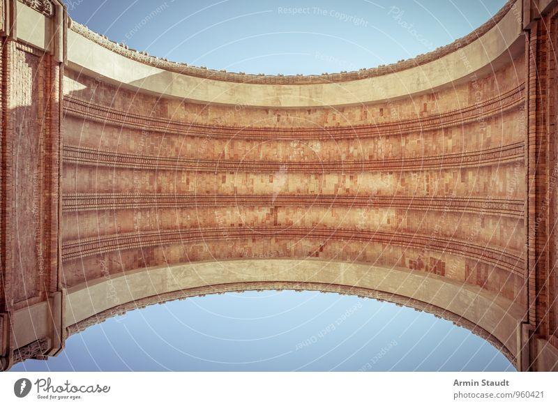 Arc de Triomf - Barcelona alt Stadt Sommer Ferne Architektur Stimmung Zufriedenheit Design stehen Schönes Wetter rund Kultur Unendlichkeit historisch Bauwerk