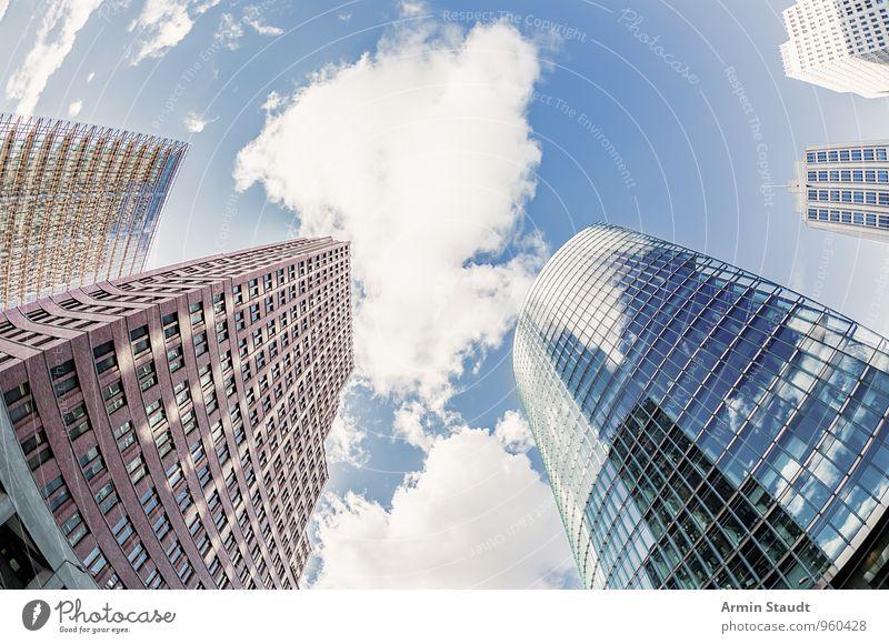 Potsdamer Platz Stadt schön Ferne Fenster Berlin Stil Stimmung Business Fassade glänzend Design Büro Wachstum modern Hochhaus authentisch