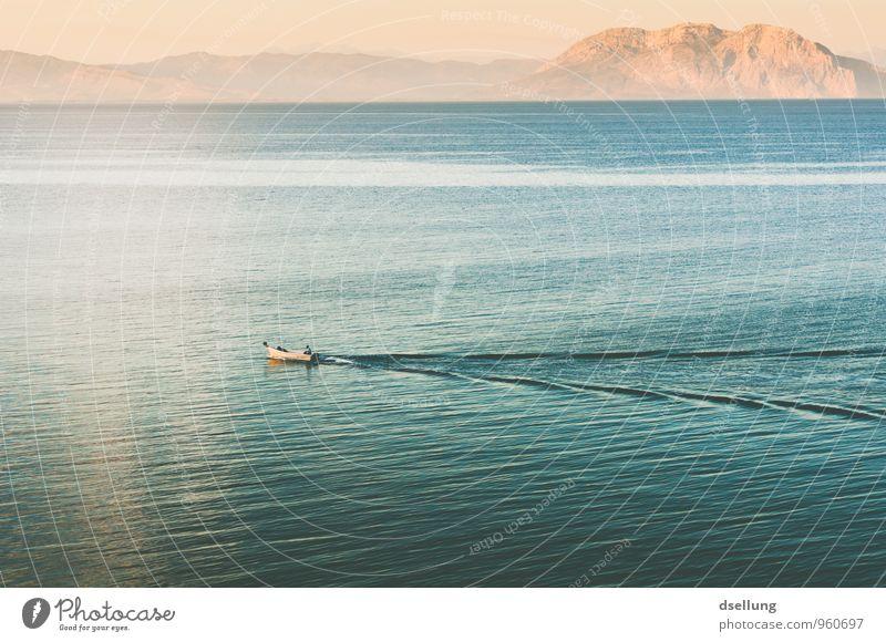 Golf von Patras Himmel Natur Ferien & Urlaub & Reisen blau grün Wasser Sommer Meer ruhig Umwelt gelb Berge u. Gebirge Wärme Küste Glück träumen