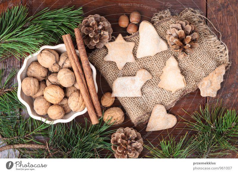 Weihnachtsdekoration Dessert Lifestyle Dekoration & Verzierung Ornament Herz authentisch einzigartig natürlich braun grün Tradition Zimt Dezember Geschenk