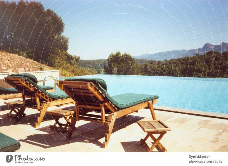 Urlaub Wasser Ferien & Urlaub & Reisen Erholung Europa Schwimmbad Frankreich Cote d'Azur Liegestuhl Cannes