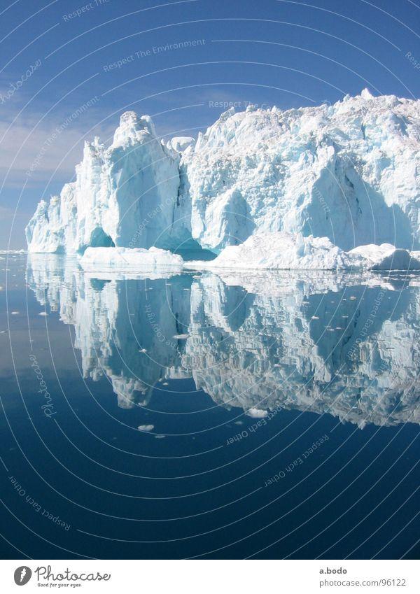 Cool Water III Grönland Ilulissat Eisberg Meer Sommer Himmel Berge u. Gebirge greenland grönland-diskobucht greenland-diskobay growler ocean Alm mountains sun