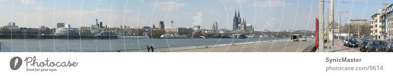 Panorama Köln Panorama (Aussicht) Europa Rhein Dom Köln-Deutz groß Panorama (Bildformat)