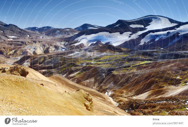 Hveradalir im Kerlingarfjöll Ferien & Urlaub & Reisen Abenteuer Expedition Berge u. Gebirge wandern Natur Landschaft Urelemente Erde Wolkenloser Himmel