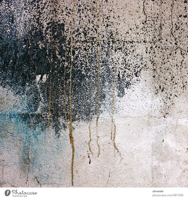 Abstract Mauer Wand Fassade Beton Linie Punkt schwarz Farbfoto Außenaufnahme abstrakt Strukturen & Formen Textfreiraum unten Tag