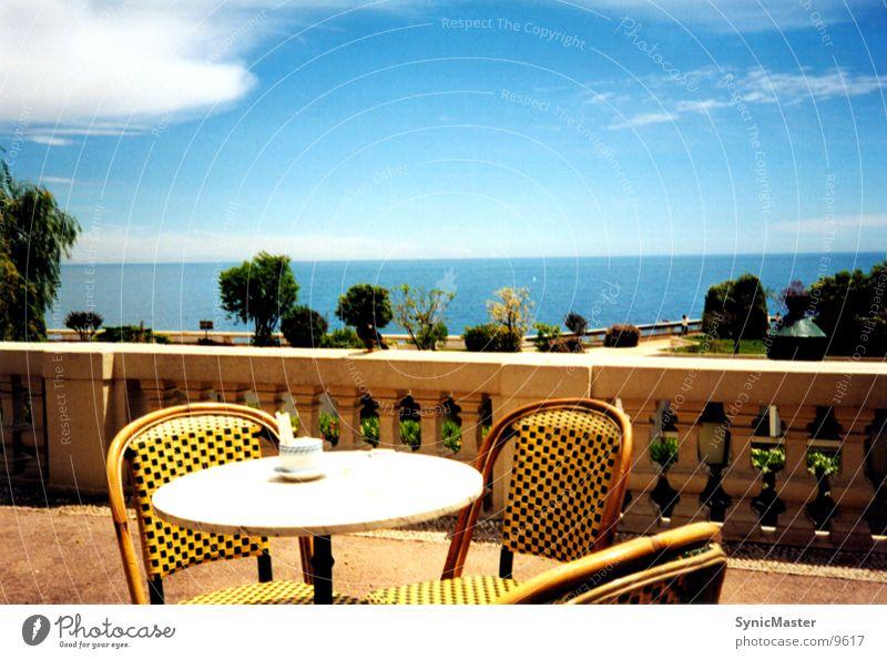 blick aufs meer Monaco Meer Tisch Europa Stuhl Wasser