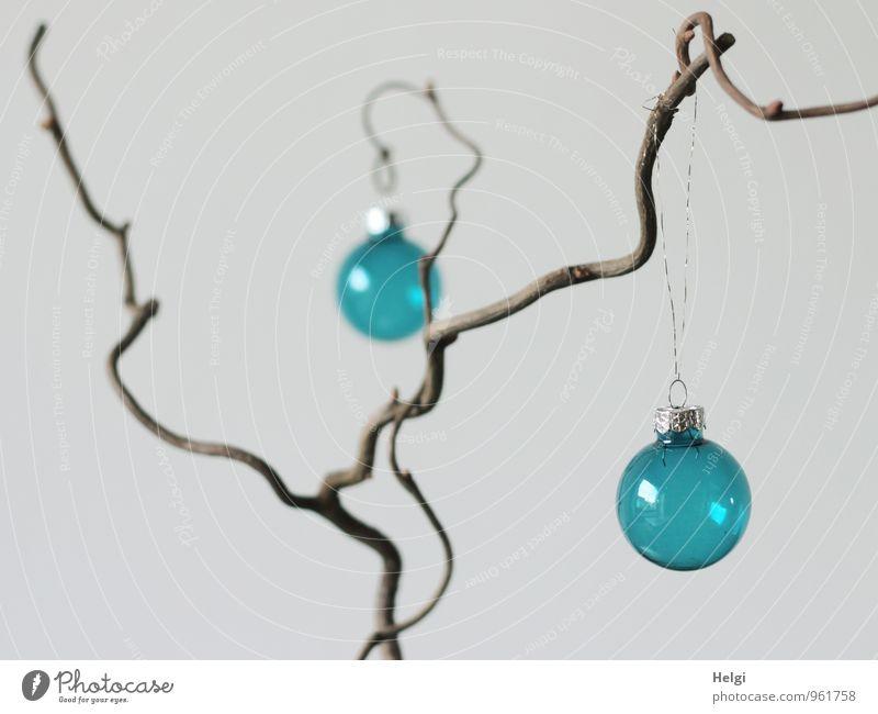 übersichtlich... blau schön Weihnachten & Advent grau Holz außergewöhnlich Feste & Feiern braun Stimmung Ordnung Häusliches Leben Design Dekoration & Verzierung Glas ästhetisch einfach