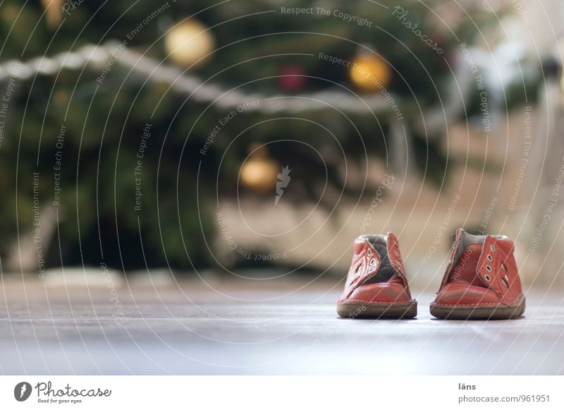 sind so kleine Füße Weihnachten & Advent Familie & Verwandtschaft Schuhe Weihnachtsbaum Tanne festlich Kinderschuhe