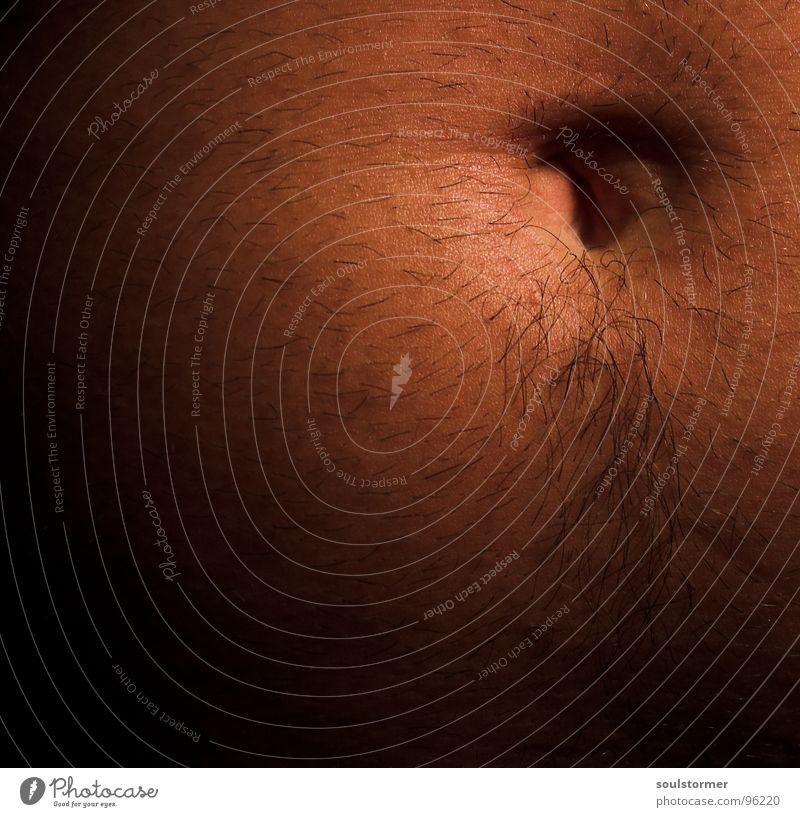 Bauchnabel... nackt Mann braun rot Unterleib schön Haare & Frisuren Haut Körperbehaarung Nahaufnahme skin belly Detailaufnahme