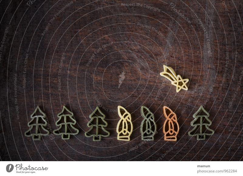 auf Wanderschaft Weihnachten & Advent Religion & Glaube Feste & Feiern Lebensmittel Ernährung Stern (Symbol) Zeichen Kitsch Weihnachtsmann Backwaren Teigwaren