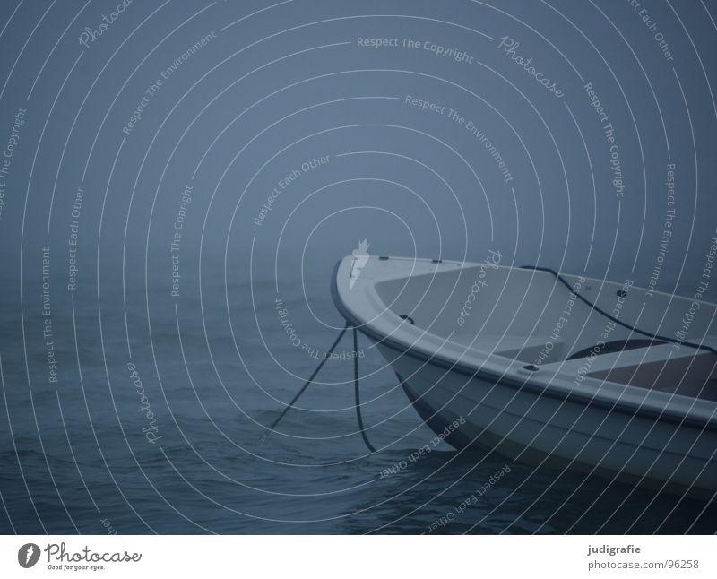 Küstennebel Wasser Meer Strand ruhig dunkel See Wasserfahrzeug Wellen Nebel Wetter Seil Leidenschaft Schifffahrt Ostsee unheimlich