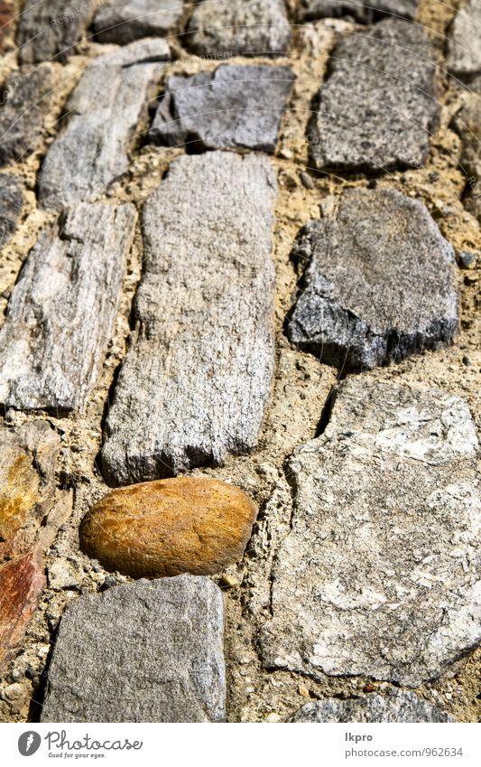 Stadt alt weiß Haus schwarz Auge gelb Straße Wand Architektur Mauer Stein braun Linie Sand Fassade