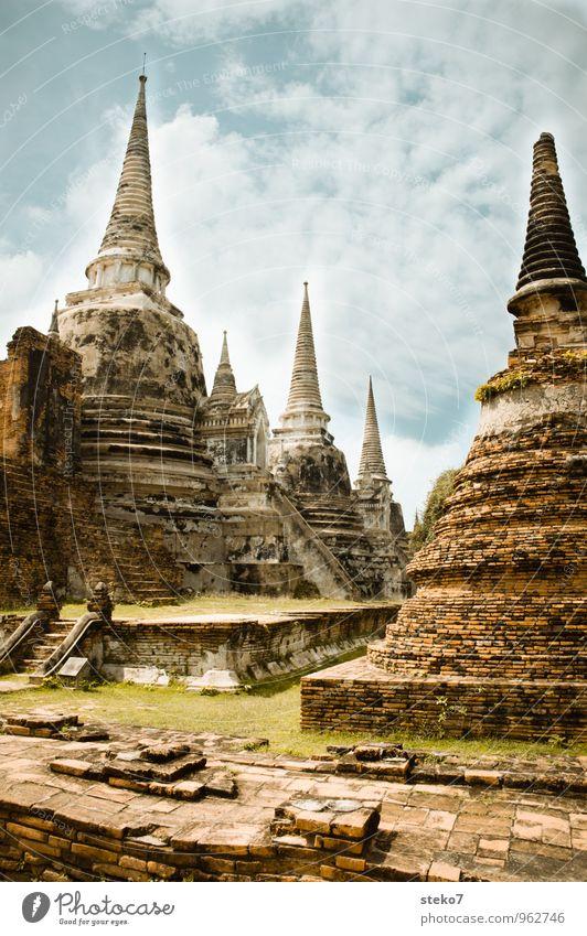 Ayutthaya - Thailand Architektur Religion & Glaube Vergänglichkeit Kultur Bauwerk heiß exotisch Sehenswürdigkeit Ruine Zerstörung Tempel Wat Phra Si Sanphet