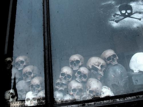 Skulls ruhig Tod Leben Kopf Kunst Angst Perspektive planen Symbole & Metaphern Zähne Todesangst Krieg Zerstörung antik Gehirn u. Nerven falsch
