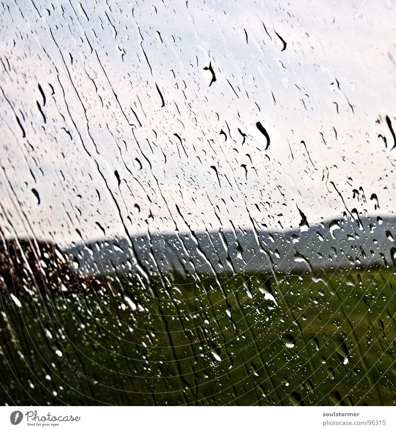 Sturm Wasser Wolken kalt Wiese Fenster Gras Berge u. Gebirge PKW Regen laufen Wassertropfen nass Sturm Gewitter eng Ekel